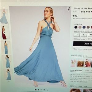 Lulu's Slate Blue Maxi Dress